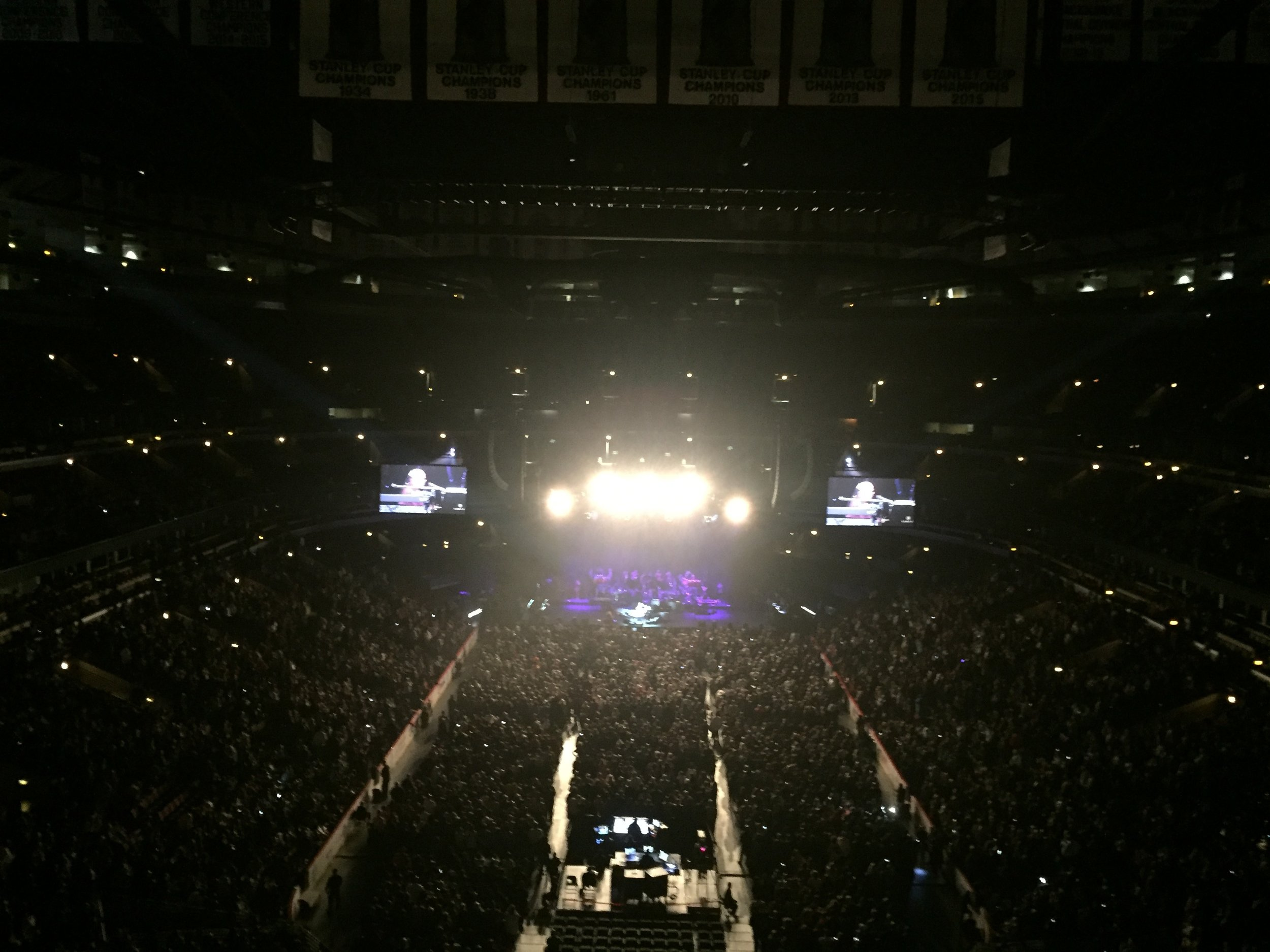 This is were I sat at the United Center for Stevie's show. 300 level at UC is usually in like another neighborhood, but this was a straight shot from the stage.Even though I could barely see him,Stevie's voice was right in my face. 65 and he still sings like 1974.