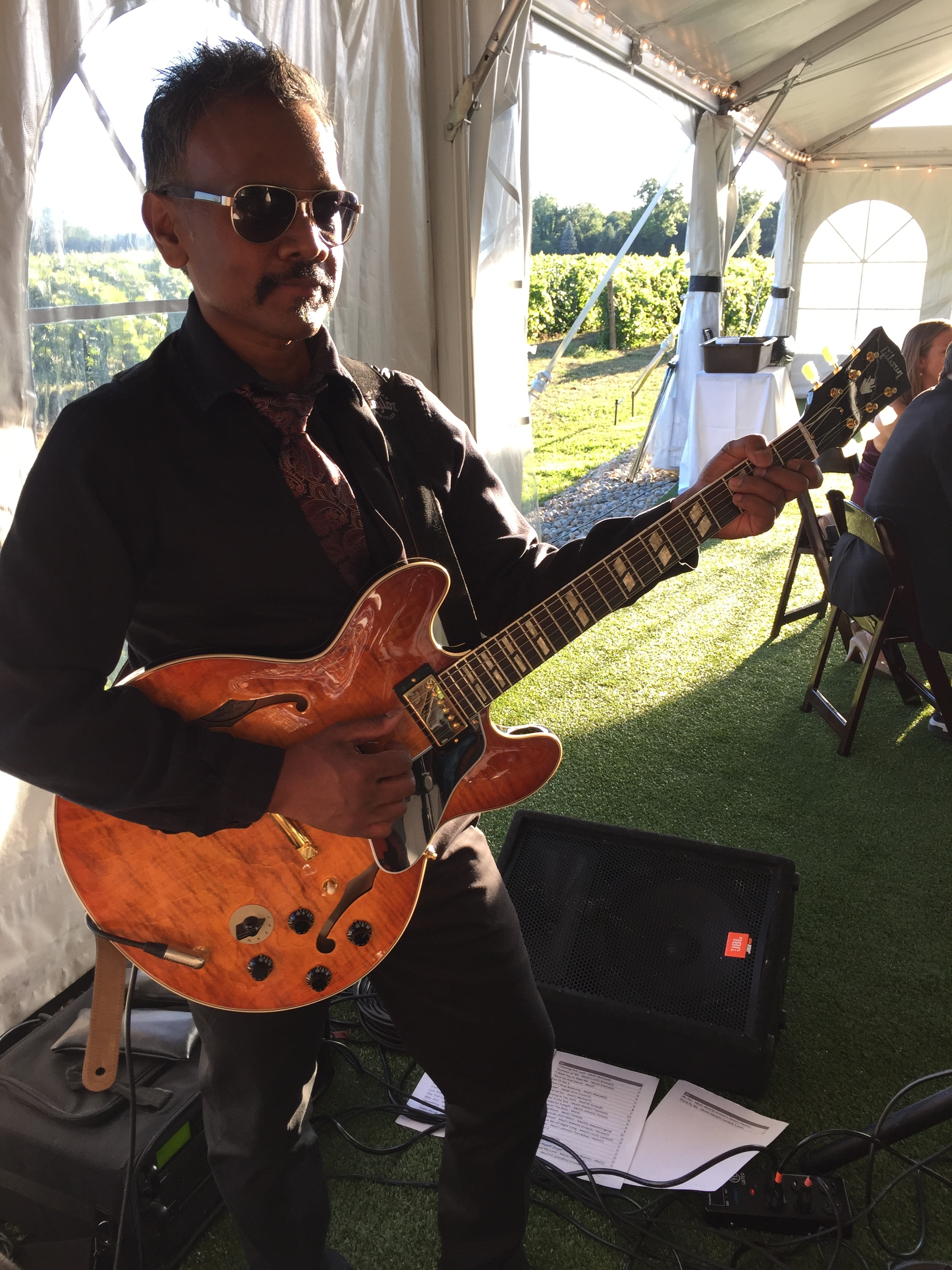 Wedding date with the Matt Stedman Band. Thats an ES-345 I borrowed. Amazing playing and sounding instrument.