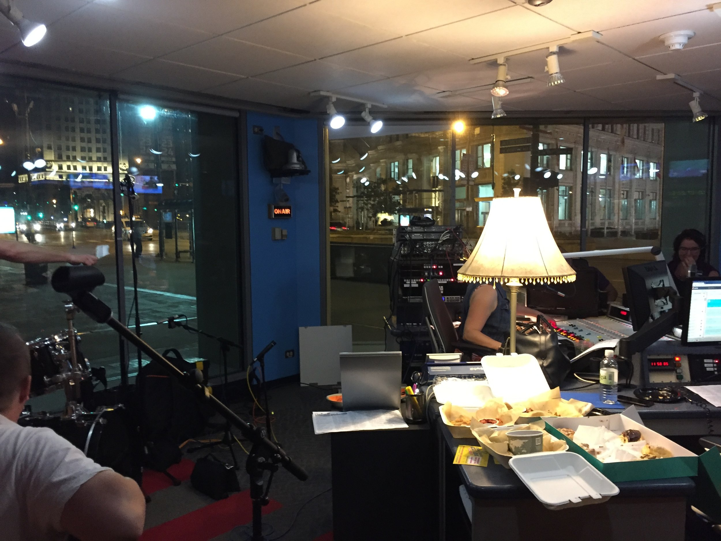 In the WGN 720 AM studio facing Michigan Ave for the  Patti Vasquez  show. It was a blast doing this and she was a gracious and funny host. Check out the podcast!