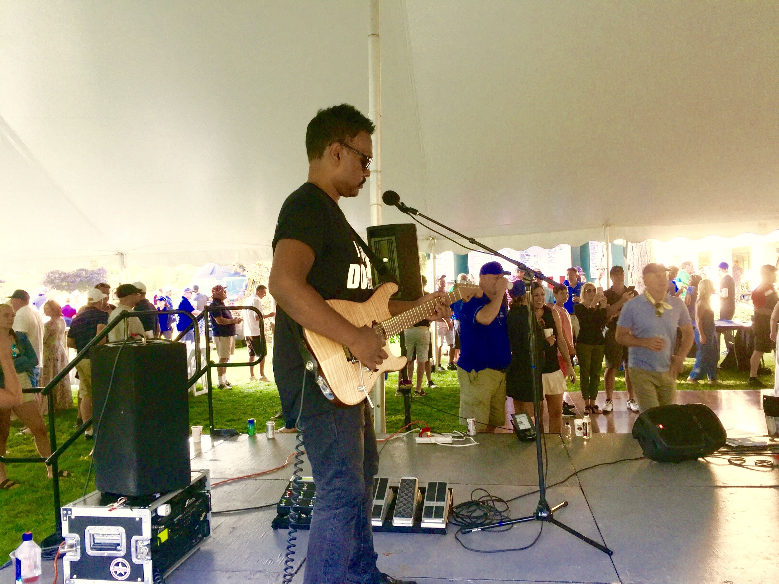 With Live Band Karaoke at Canal Shores Golf Invitational. August 2017.