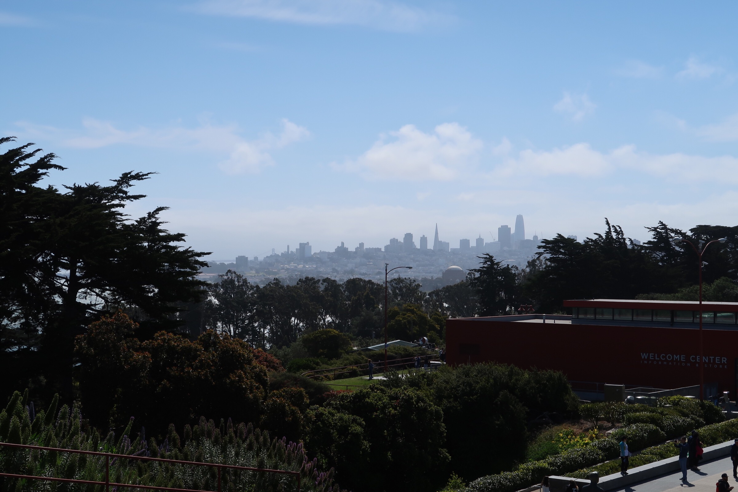 View of SF cityscape from GGB