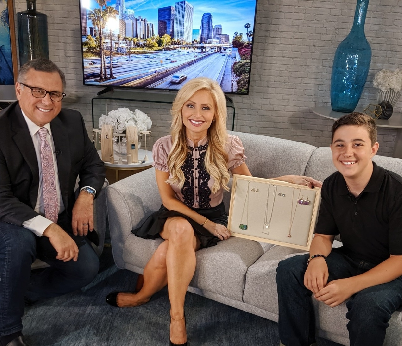 Young entrepreneur & Owner of Downtown 10 Jewelry, Cross Kodesh, 12, was just featured on Los Angeles television show Carlos & Lisa of BeondTV! Click to Watch the segment!