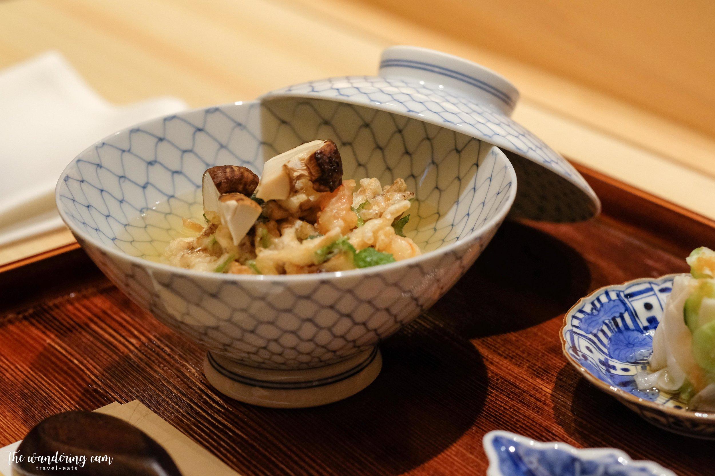 Ten-cha with matsutake broth