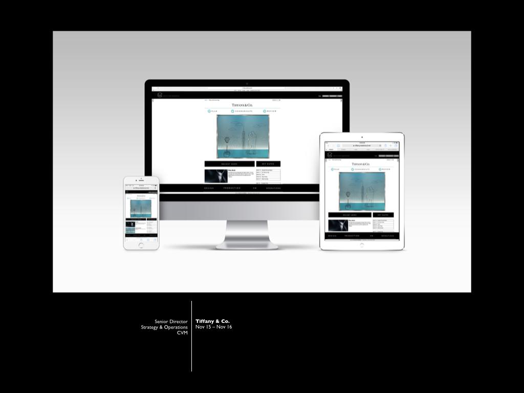 Tiffany CVM - Internal Comms re brand