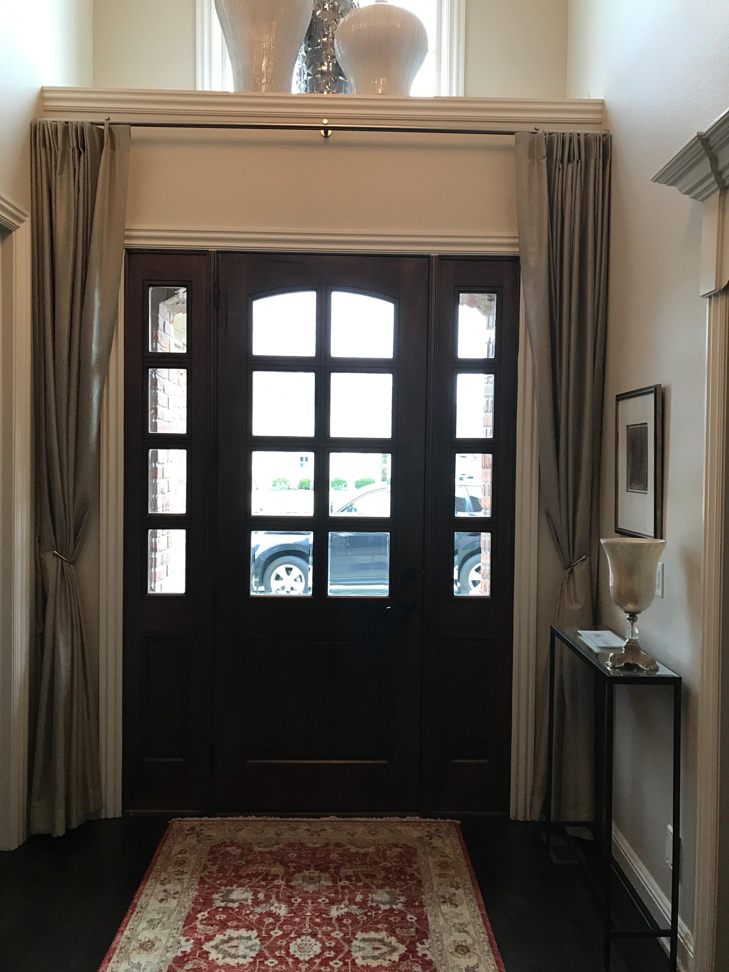 Entry Door Privacy Sheers