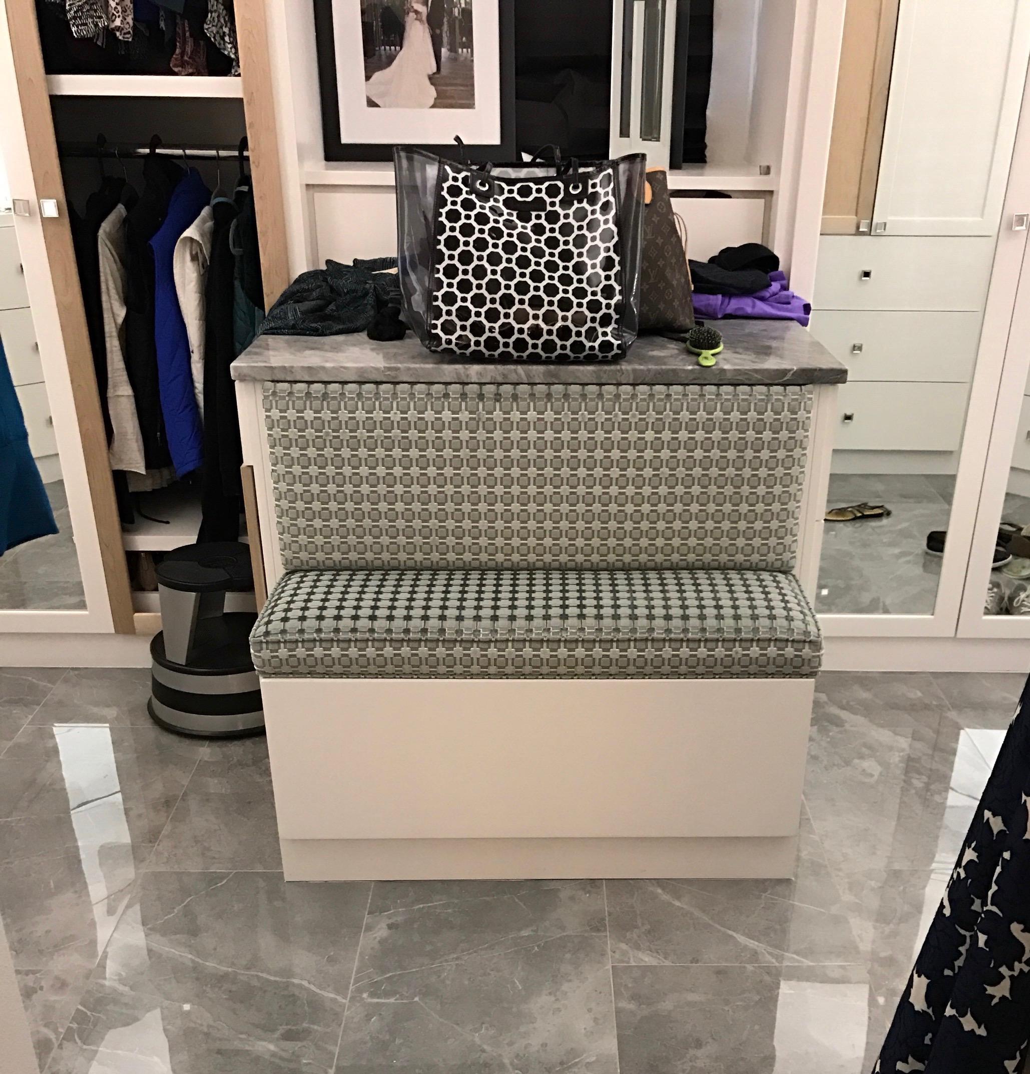 Master Closet Bench
