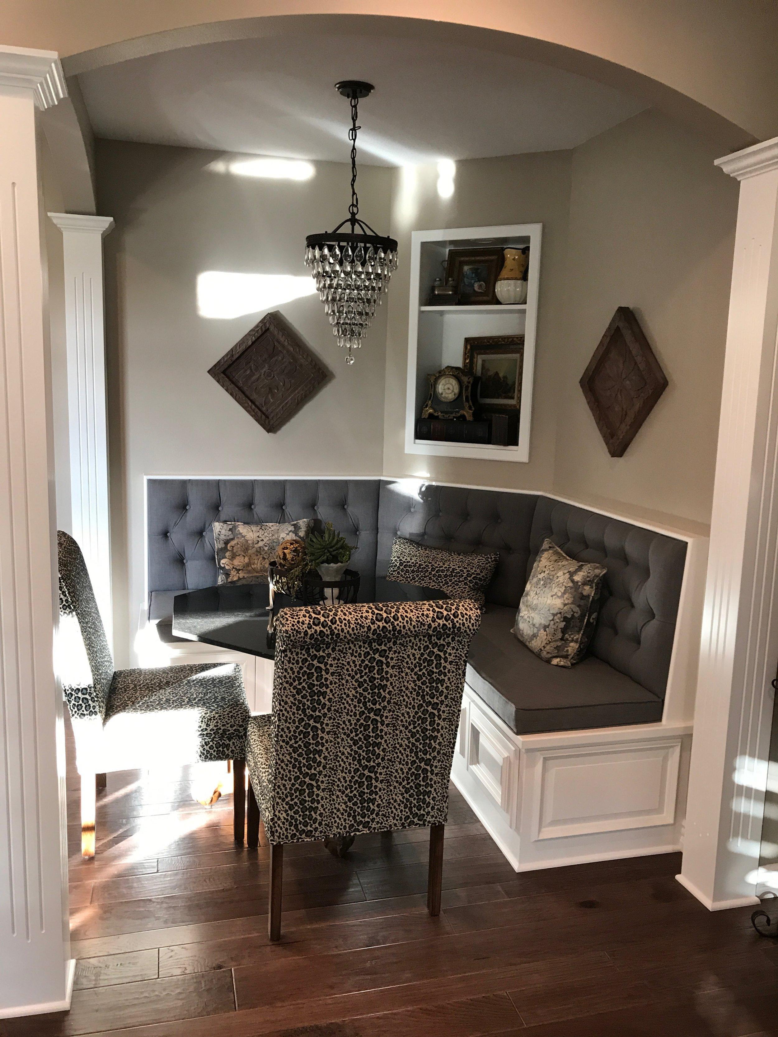 Custom Banquette & Parson Chairs