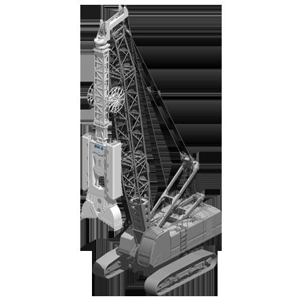 BH 8 - Profundidad máxima: 75 mRelación de excavación: 350/800 x(ancho/largo): 2000/3200 mmPeso: 8 toneladas