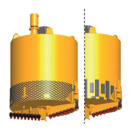 Core Barrel - Diámetro: Ø600 - 3.000Stub: 200 x 200 mm