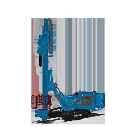 SM-17 - Motor: CUMMINS QSB 6.7Potencia: 164 kW @2200rpmPeso (sin Kelly): 33 toneladasTorque máximo: 130 kNmWinche principal: 113 kNmDiámetro máximo: 1500 mmProfundidad máxima (Kelly fricción): 49m (60 con KIT especial)Profundidad máxima (Kelly bloqueo): 39m (44,5 con KIT especial)