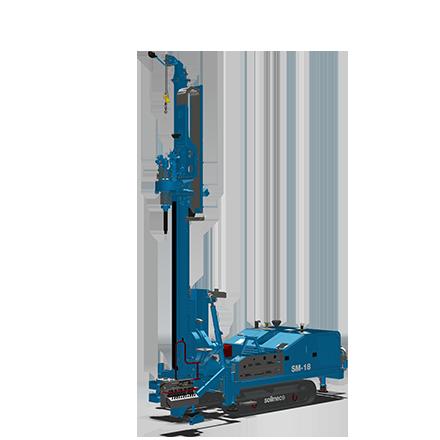 SM-18 - Motor: CUMMINS QSB 6.7Potencia: 164 kW @2200rpmPeso (sin Kelly): 33 toneladasTorque máximo: 130 kNmWinche principal: 113 kNmDiámetro máximo: 1500 mmProfundidad máxima (Kelly fricción): 49m (60 con KIT especial)Profundidad máxima (Kelly bloqueo): 39m (44,5 con KIT especial)