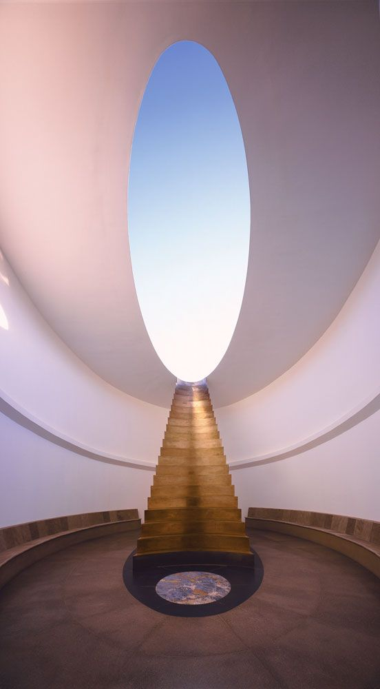 East Portal from Roden Crater Project, James Turrell, 1979 – Photograph by Florian Hozherr – Image Source:  The Red List