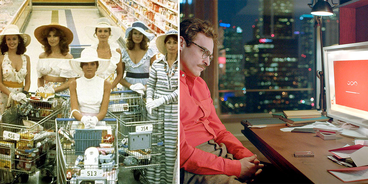 (L)  Stepford Wives  (1975) (R)  Her  (2013)
