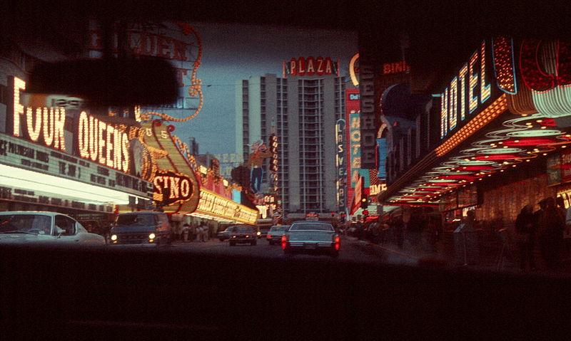 Downtown Las Vegas, 1973. Image Source:  Wikimedia Commons