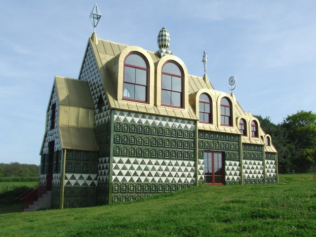 House for Essex by Grayson Perry and FAT in Manningtree, England, 2015. Image Source:  Keith Evans
