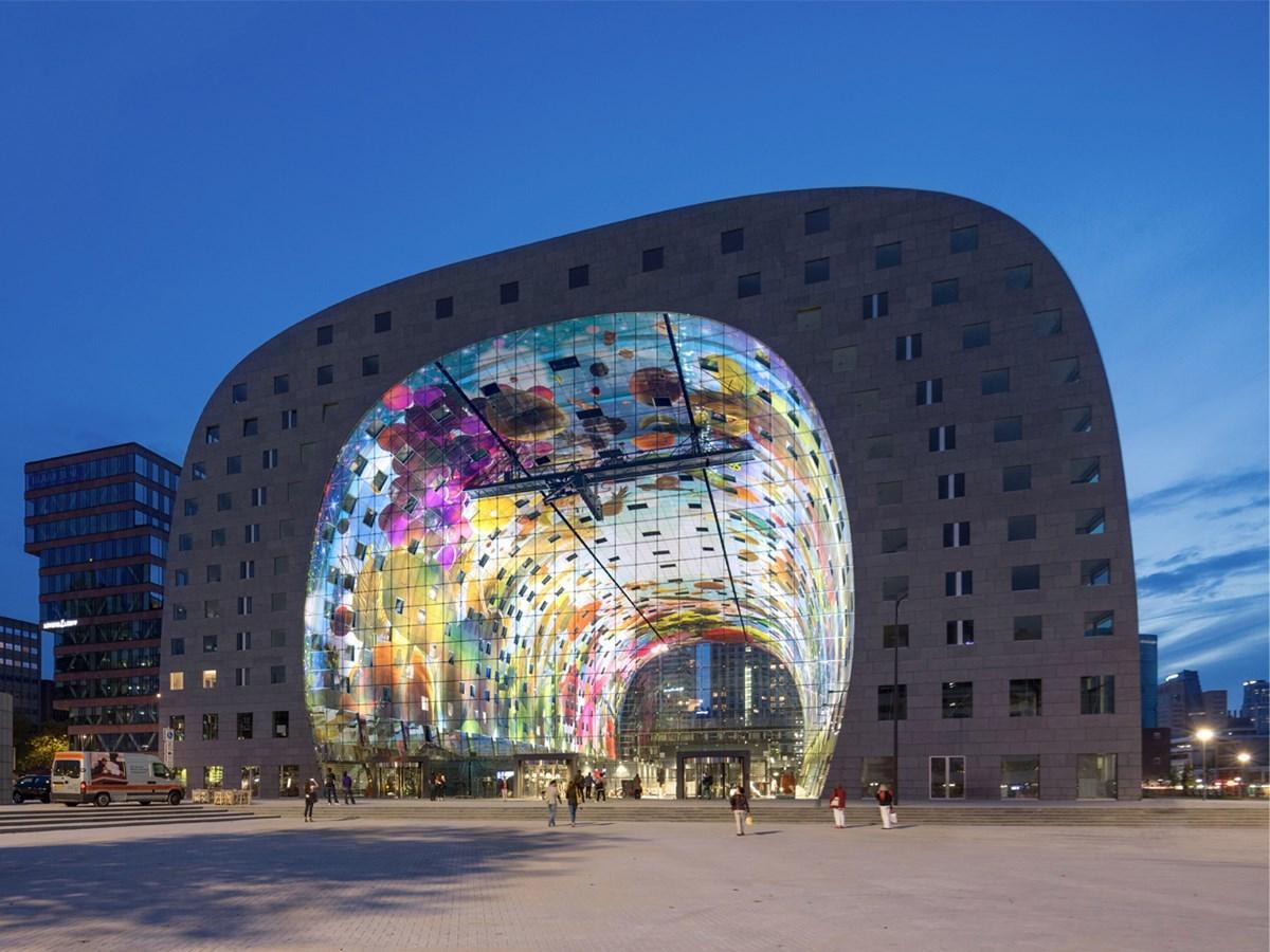 Markthal by MVRDV in Rotterdam, Netherlands, 2014. Image Source:  MVRDV
