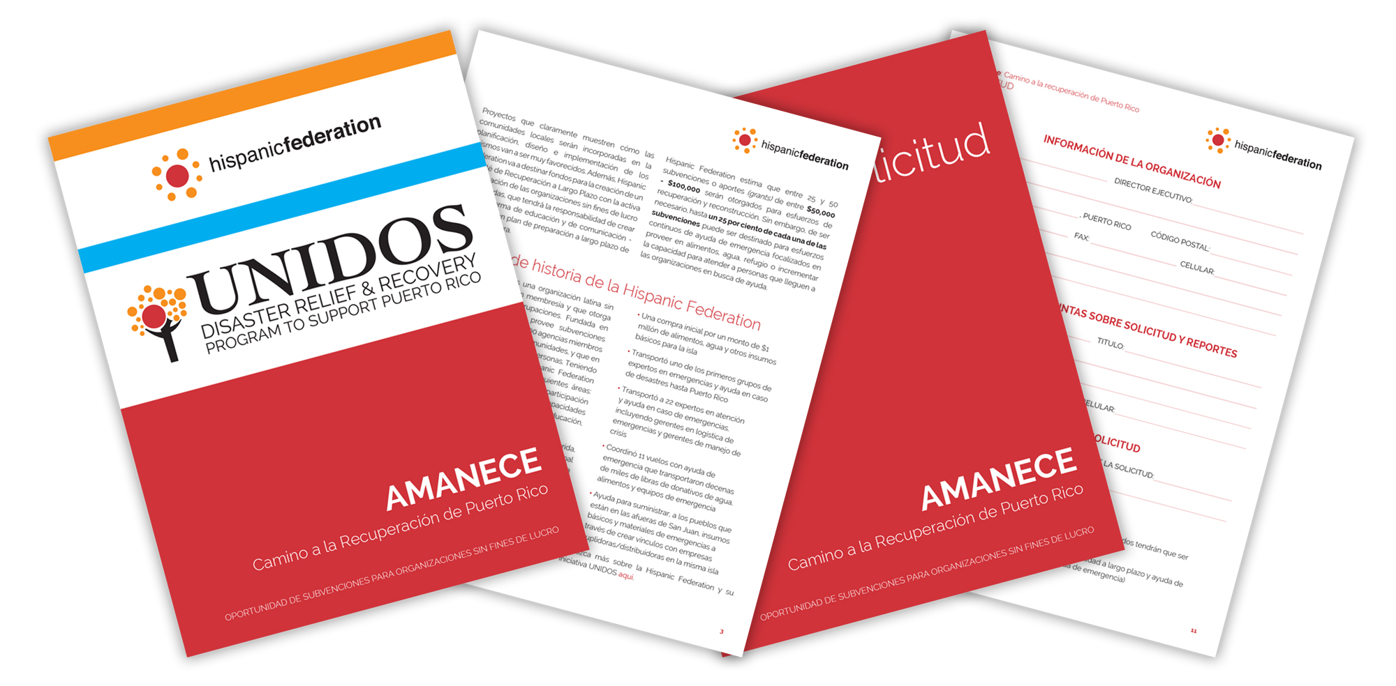 Amanece Grant downloadable application in Spanish.