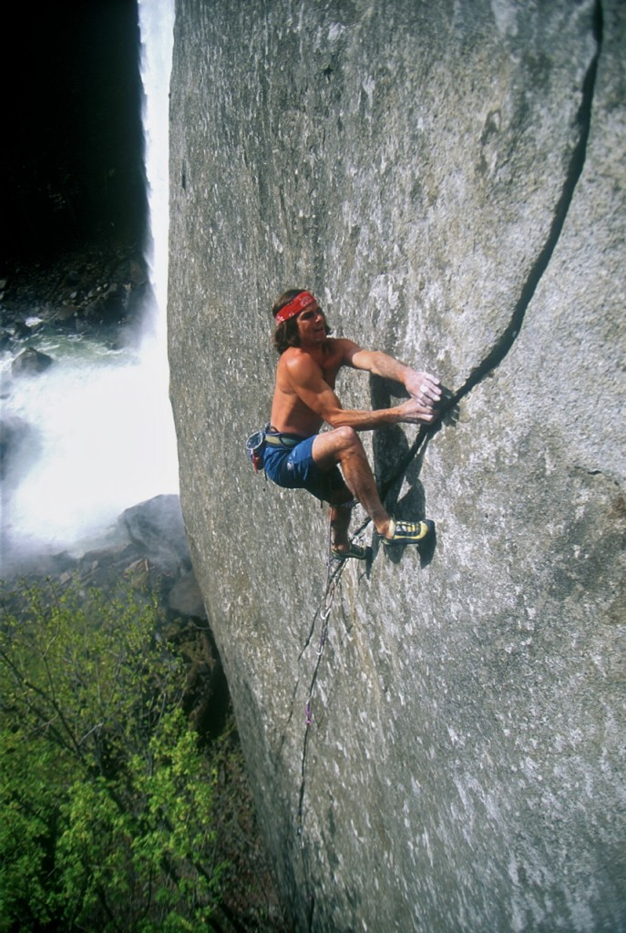 "Ron Kauk climbing ""Magic Line"""
