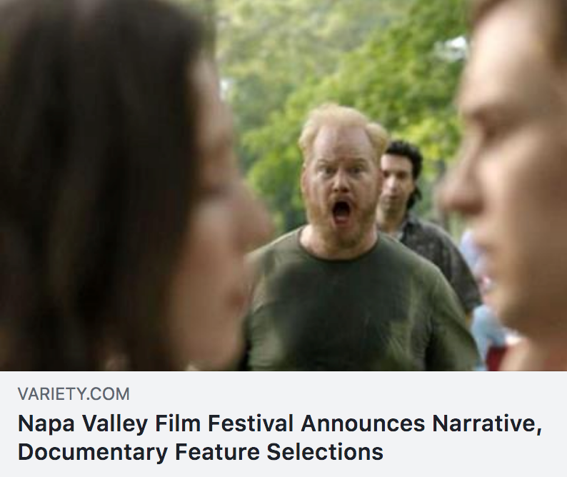 Variety   announces  Are You Glad I'm Here  as part of the Napa Valley Film Festival's core line up, were we won Best Screenplay!
