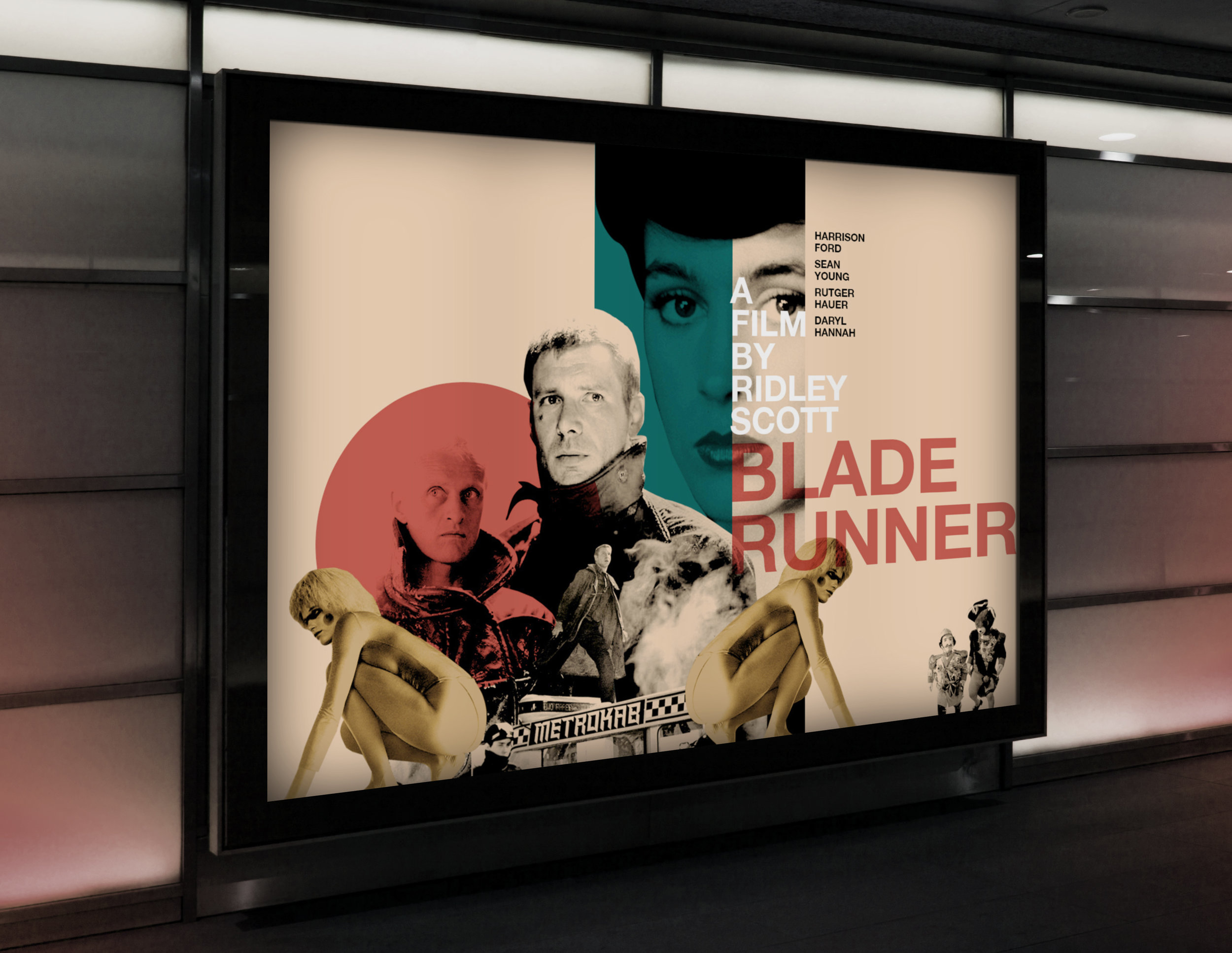 Blade Runner   billboard, 2017 (student work)