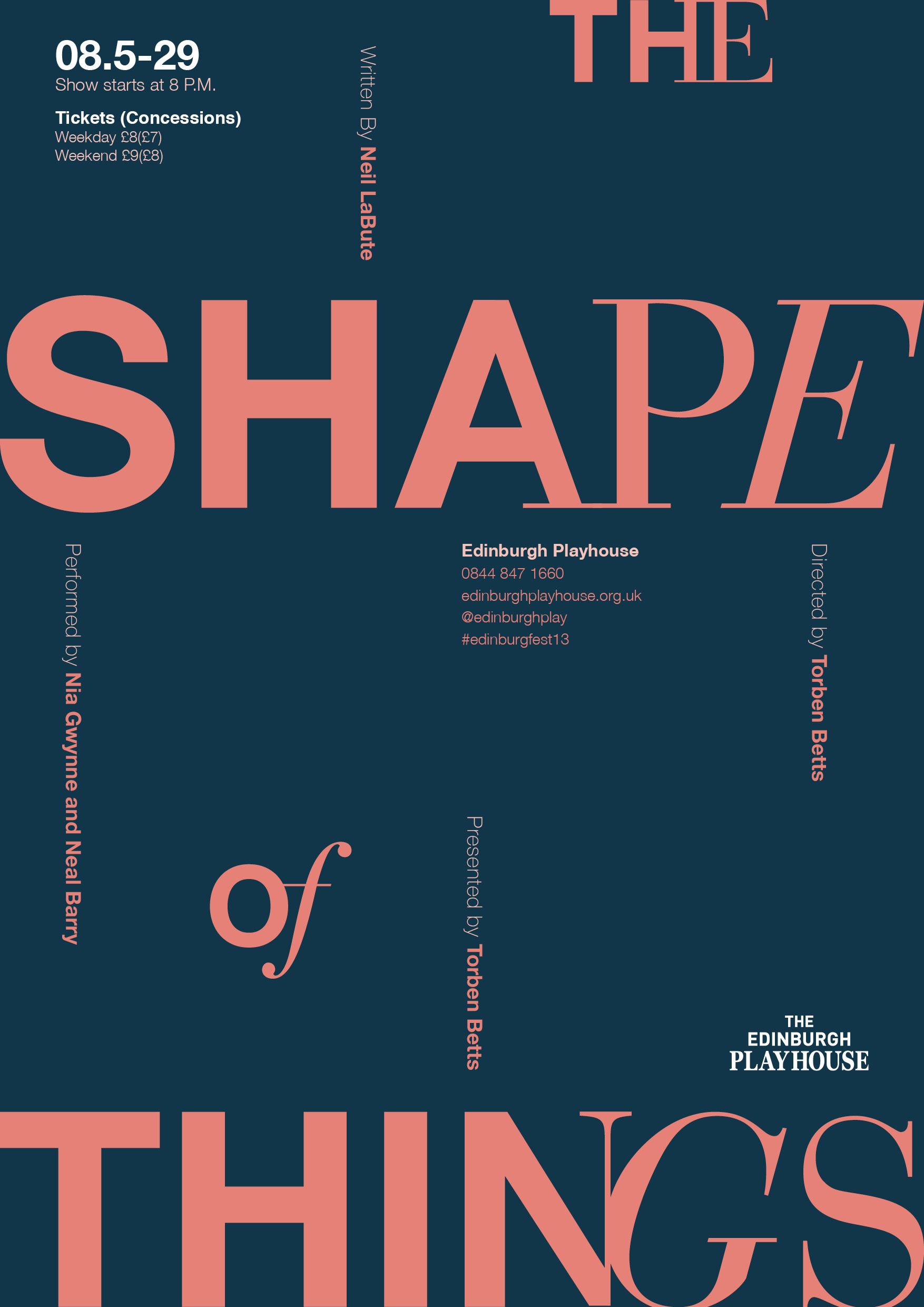 The Shape of Things   theater poster, 2017 (student work)