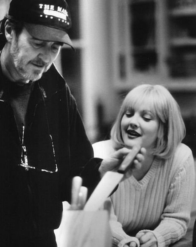 Wes Craven and Drew Barrymore,  Scream