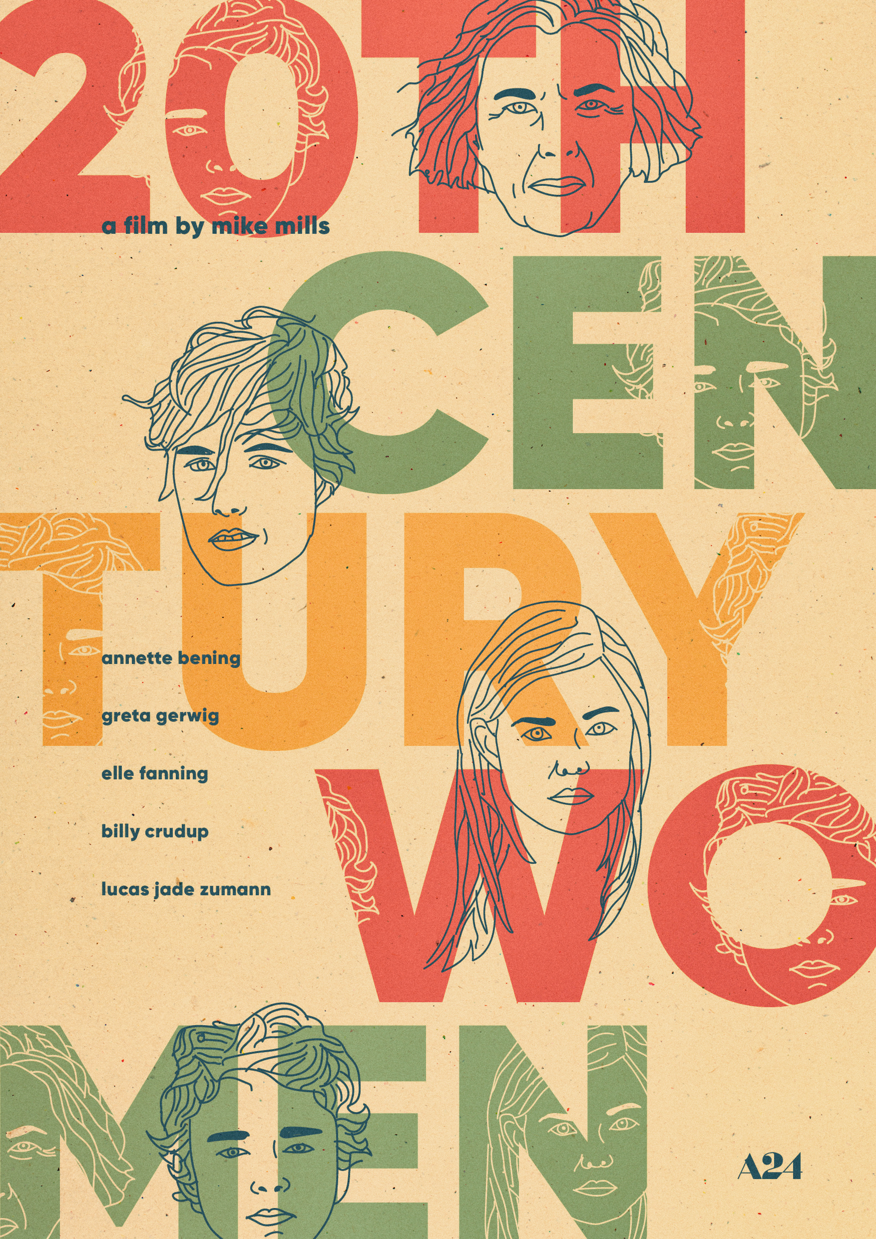 20th Century Women   poster, personal work, 2017