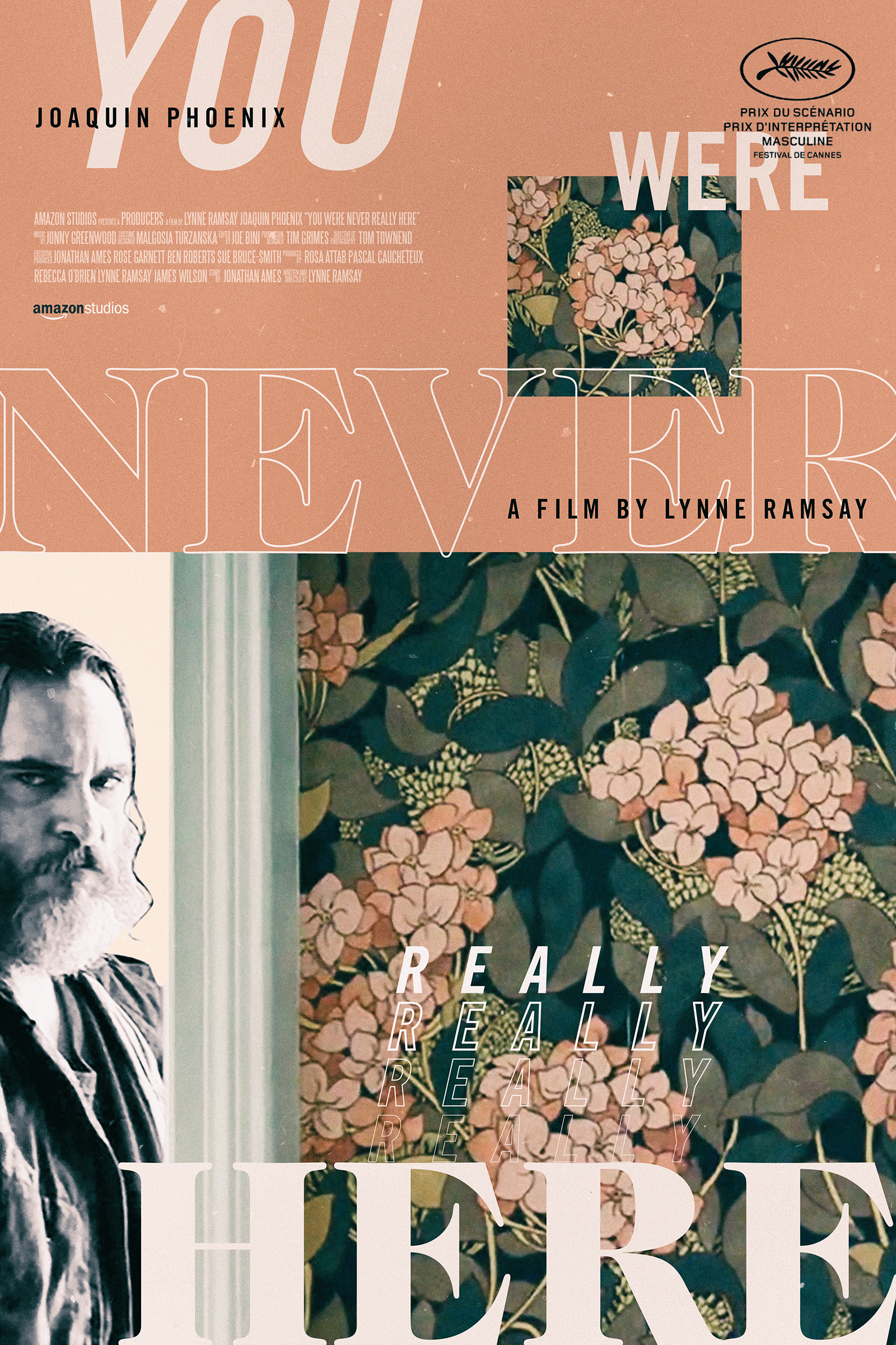 You Were Never Really Here   poster, personal work, 2018