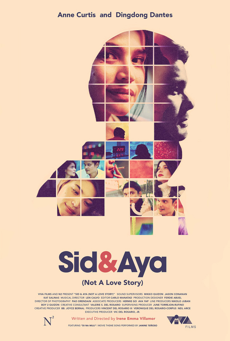 Sid & Aya (Not A Love Story)   official one-sheet, 2018. See how it was made  here.