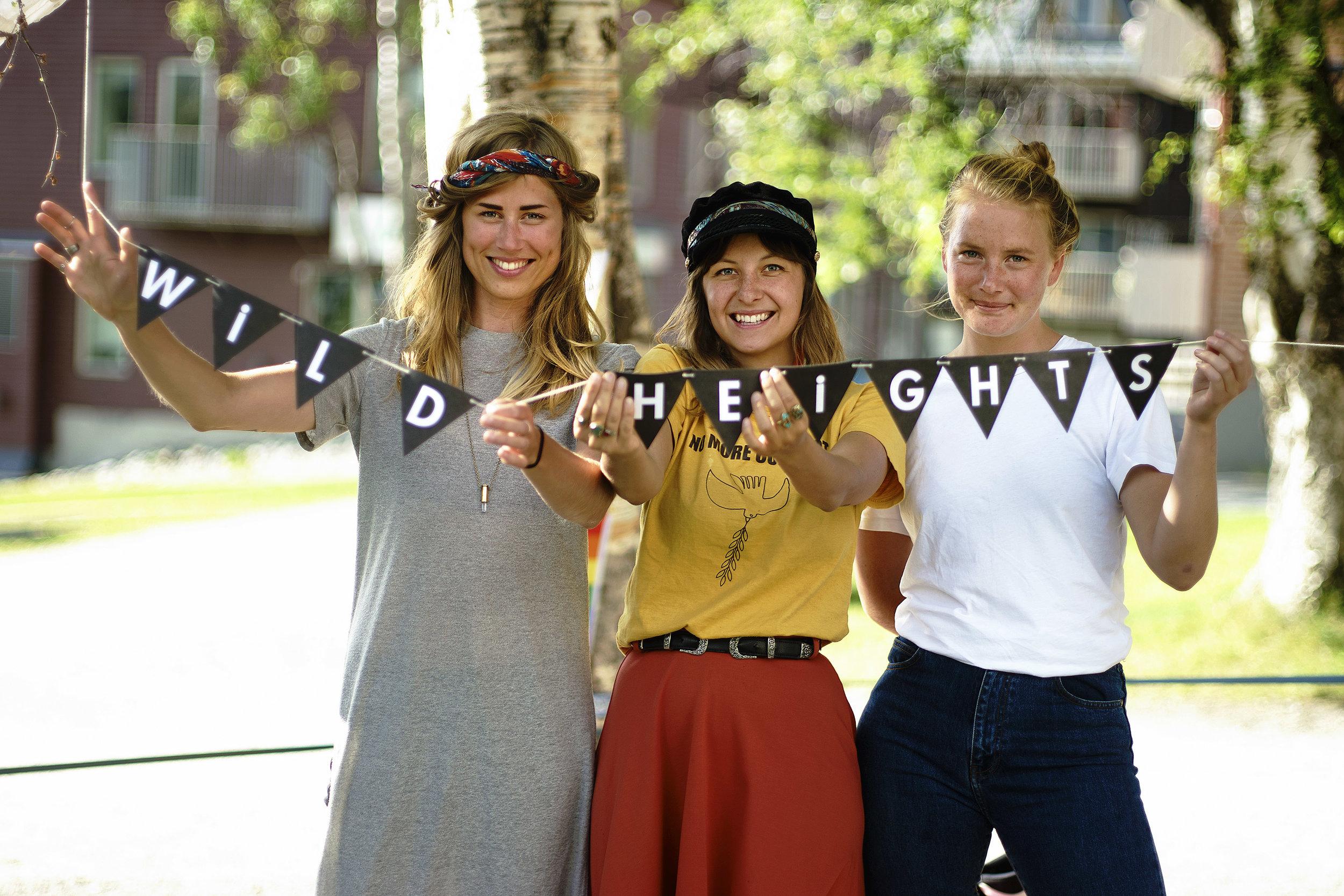 W I L DH E I G H T S – Matilda Pettersson, Nicole Modigh & Alexandra Hedengren. foto: Lina Johansson