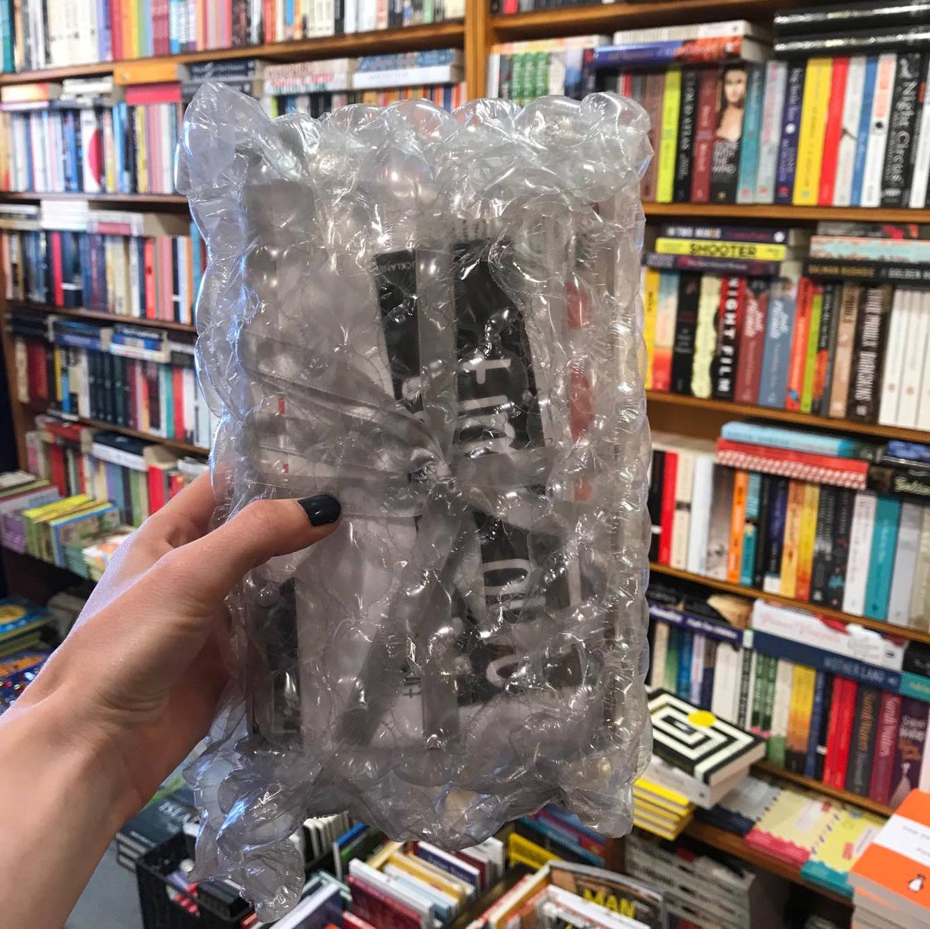 5.              - We pad out the package in recycled bubble wrap so it's nice and safe...