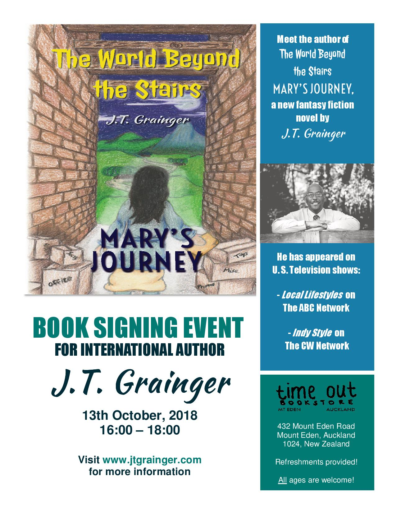 Author JT Grainge - Book Signing Flyer - 13 October 2018.jpg