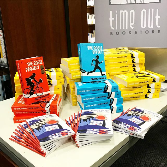 Cait is at Remuera Library with the gorgeous Graeme Simsion! We will have signed copies of his latest book 'The Rosie Result' in store tomorrow 🚲