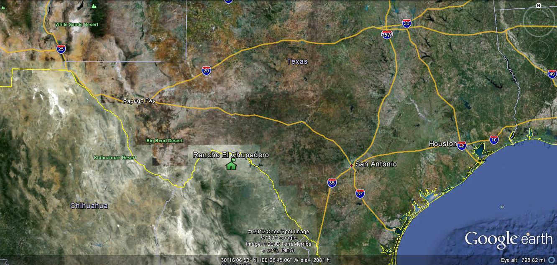 Rancho El Chupadero Location