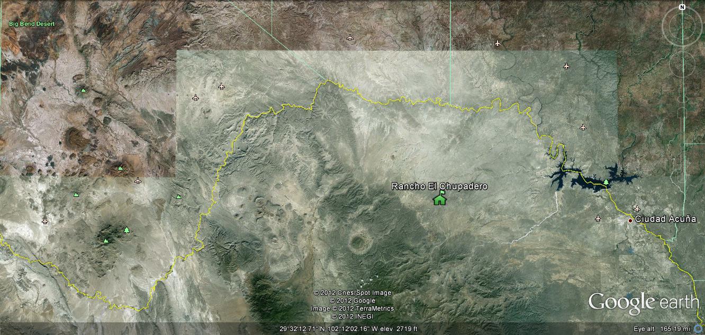 Carmen Mountain Deer Hunt Camp Location.