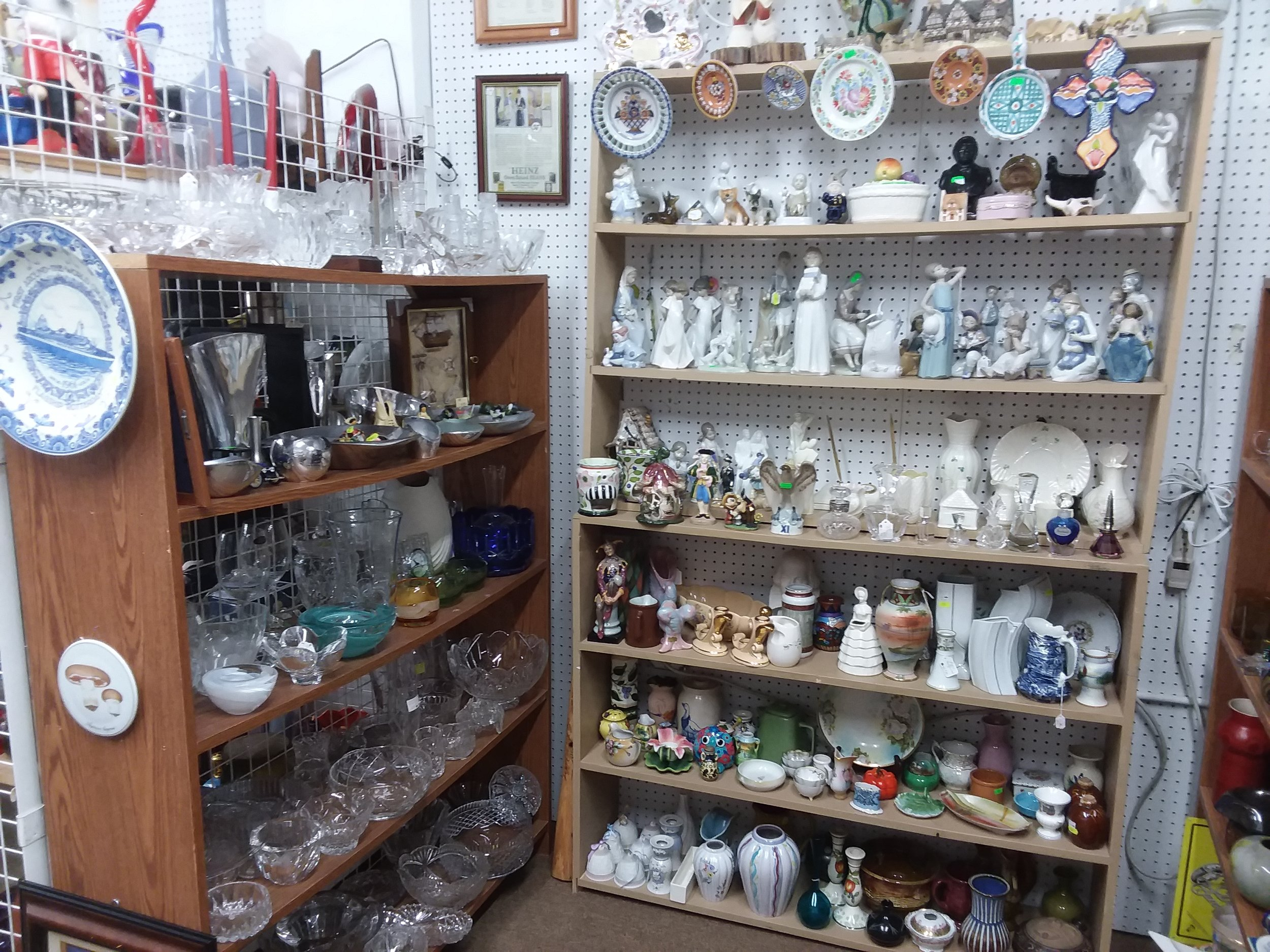 - Mike is the glass man! He carries beautiful pieces of Czech glass as well as other high quality glass such as Waterford.
