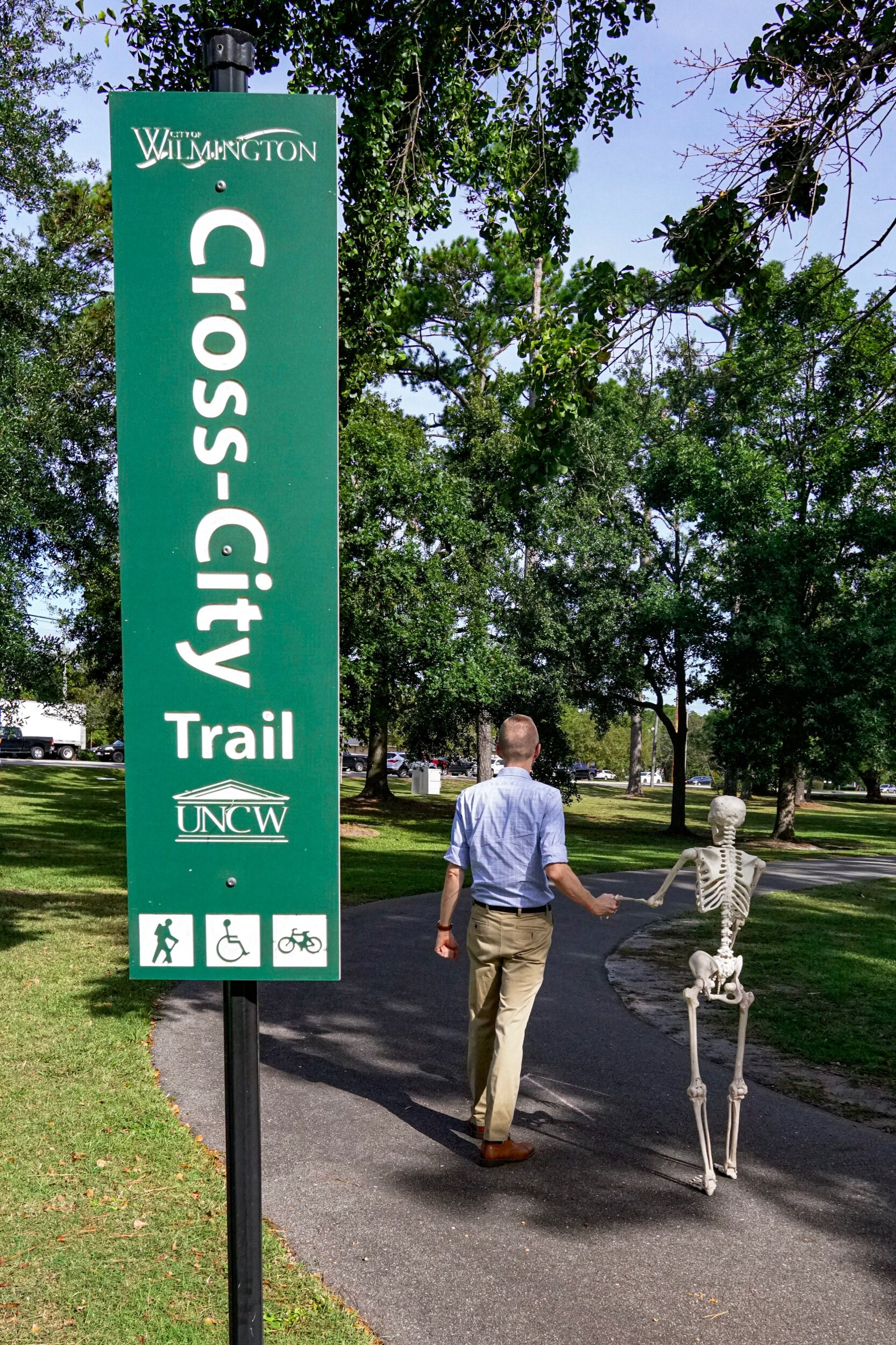 Cross City Trail  https://www.wilmingtonnc.gov/departments/parks-recreation/gary-shell-cross-city-trail