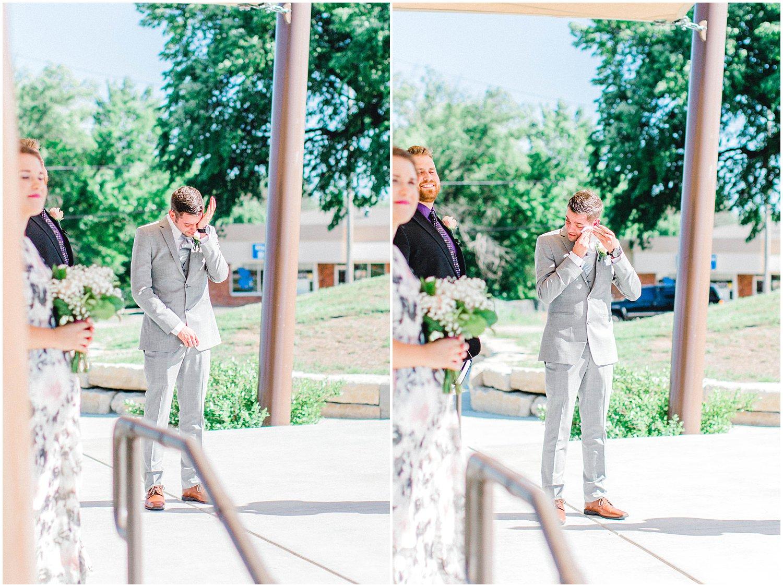 Madison Avenue Central Park Wedding, Kansas Wedding Photographer, Wichita Kansas Wedding Photographer, modern wedding, traditional wedding, wedding photography, wedding inspiration, unique wedding photos, classic wedding photos, ceremony photos, emotional groom, grooms reaction