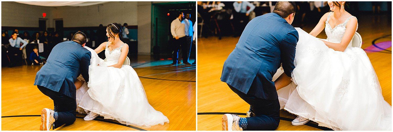 Hutchinson Kansas Wedding, Kansas Wedding Photographer, Wichita Wedding Photographer, church wedding, traditional wedding, catholic wedding, themed wedding, wedding photography, wedding inspiration, unique wedding photos, 80s themed reception, garter toss