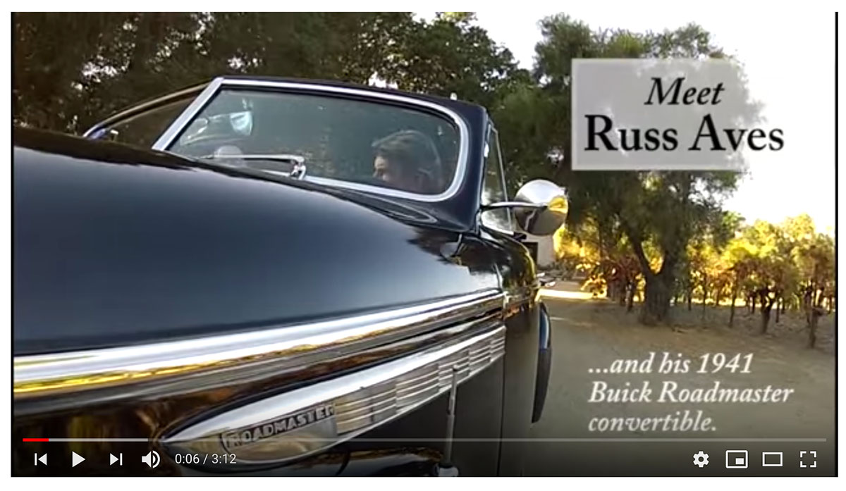 Napa Valley Joyride: Russ Aves and his 1941 Buick Roadmaster Convertible