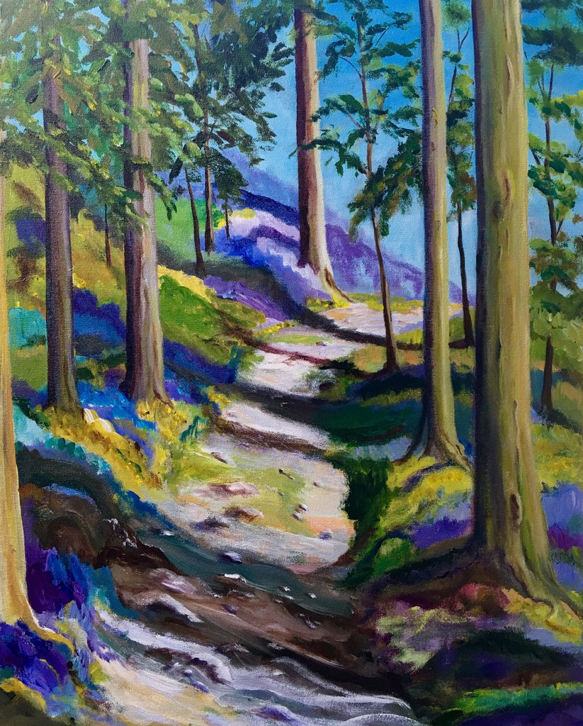 "A Walk Through the Trees 30""x24""x1.5"" $1,200"