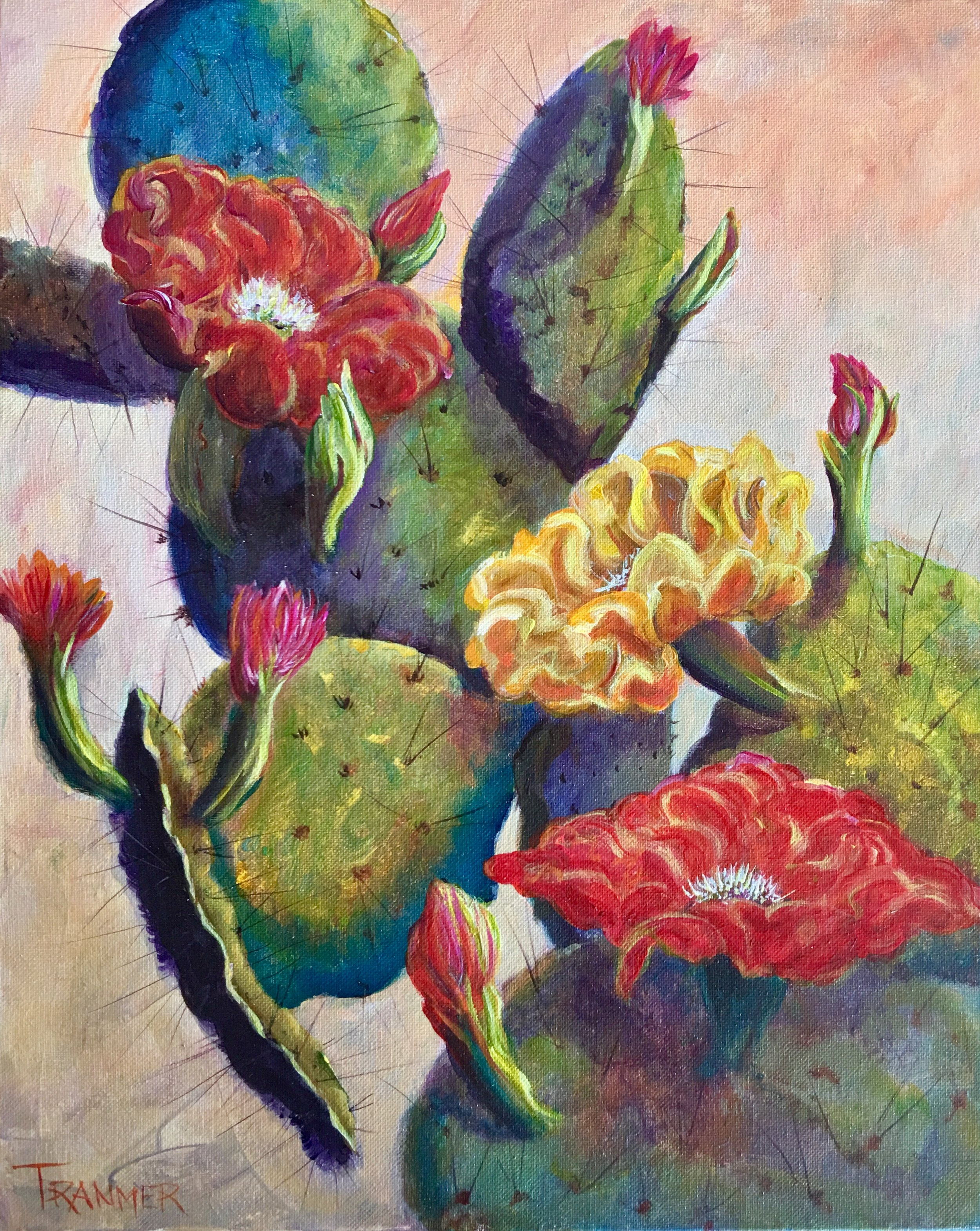 "Prickly Pear 16""x20""  $700"