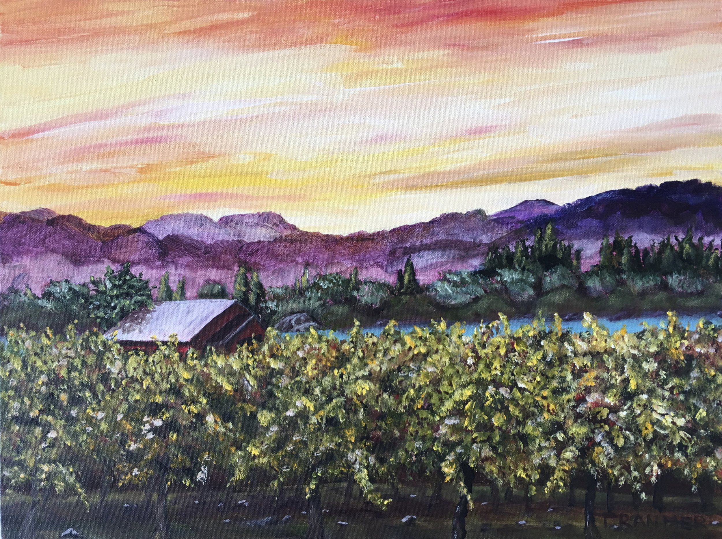 "Lakeside Vineyard  16""x20""  $700"