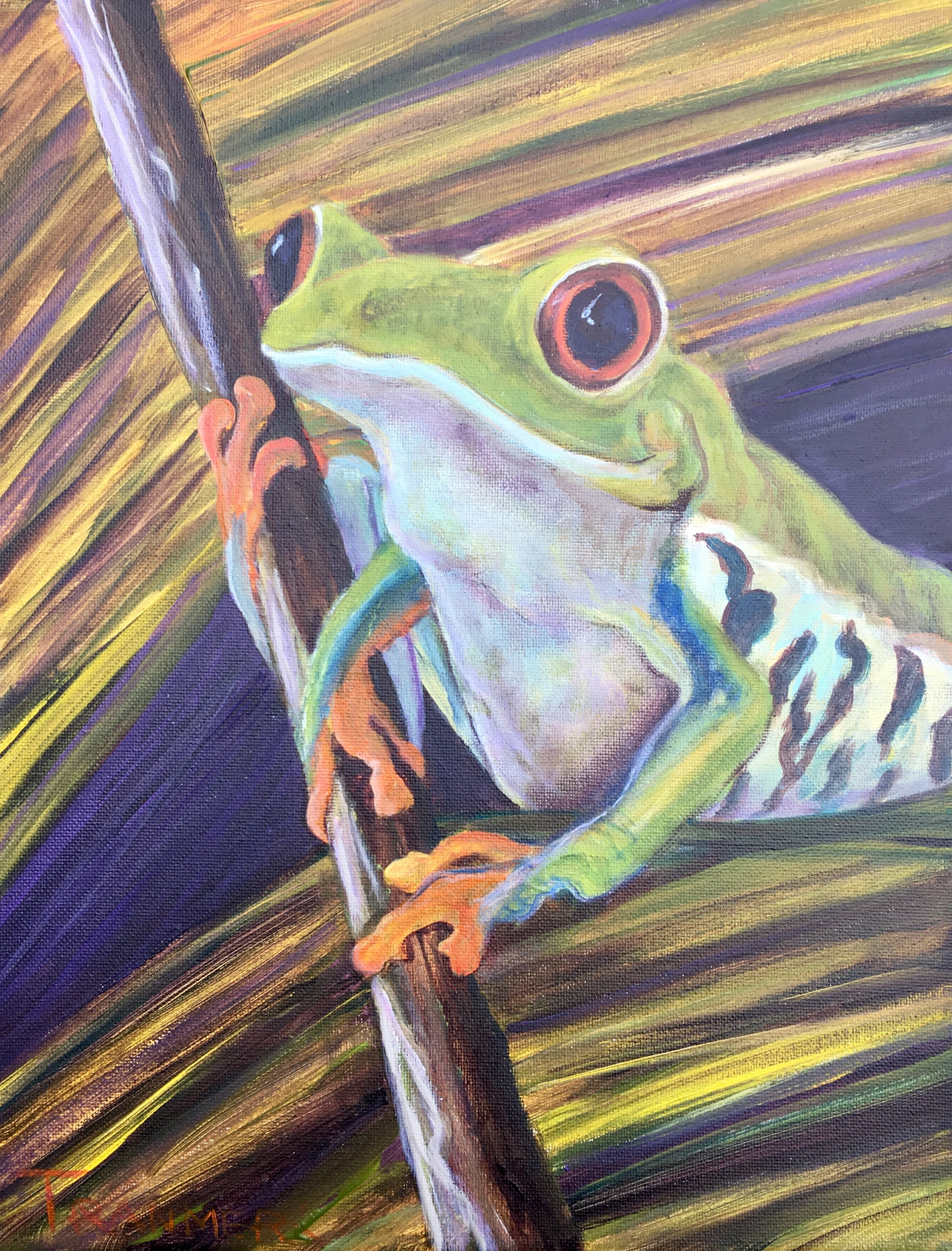 "Ribbit!  14""x11""  $375 SOLD"