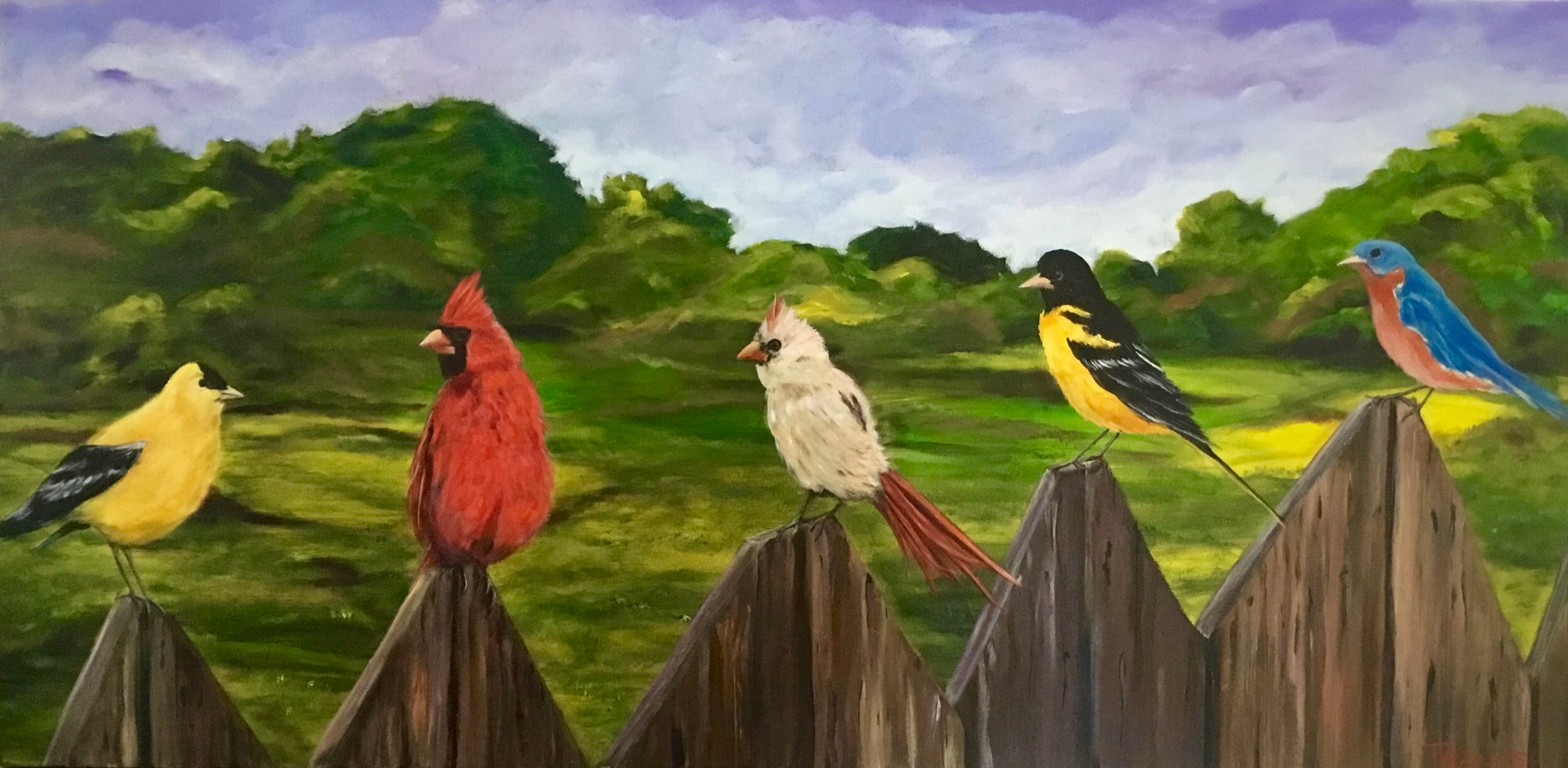 "The Real Twitter 24"" x 48""  $2,200"