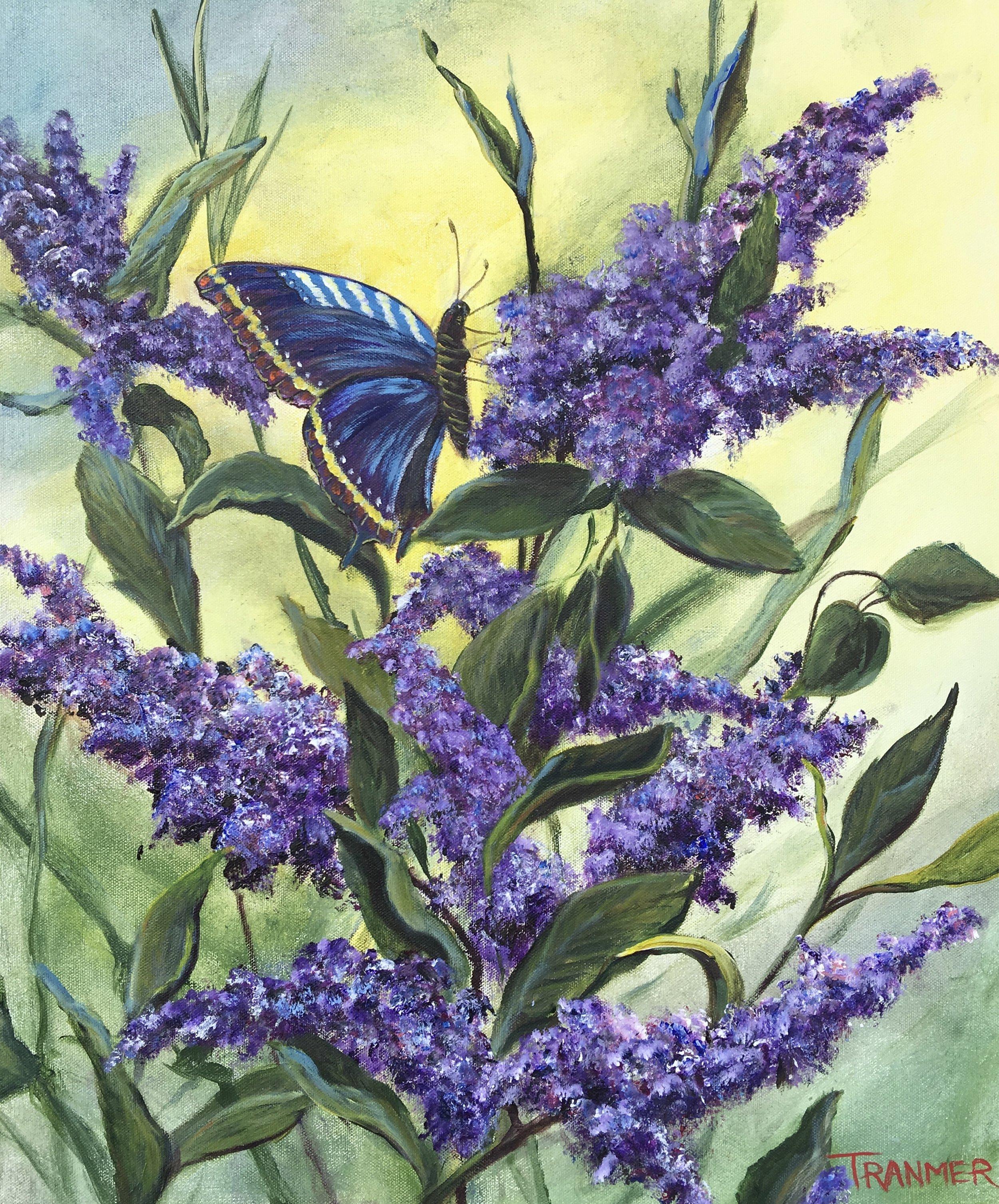 """Wild Lilac  24"""" x 20""""  $1,200"""