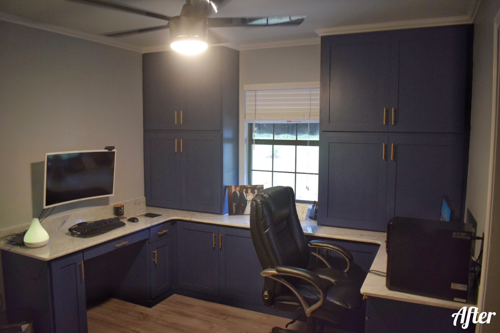 Custom Office Work Area Remodel