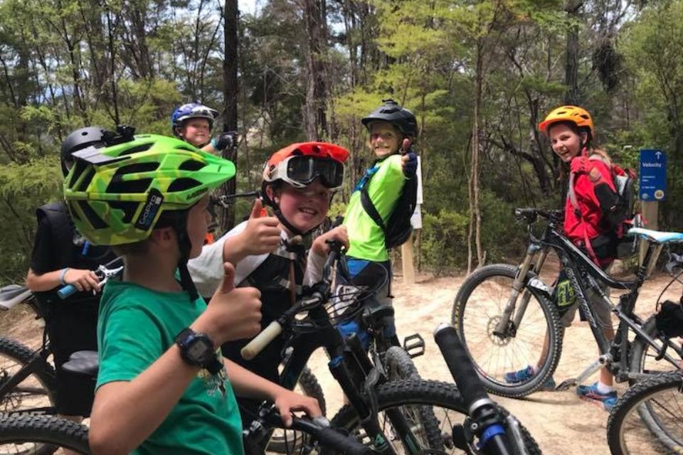 hira school kaiteriteri mountain biking