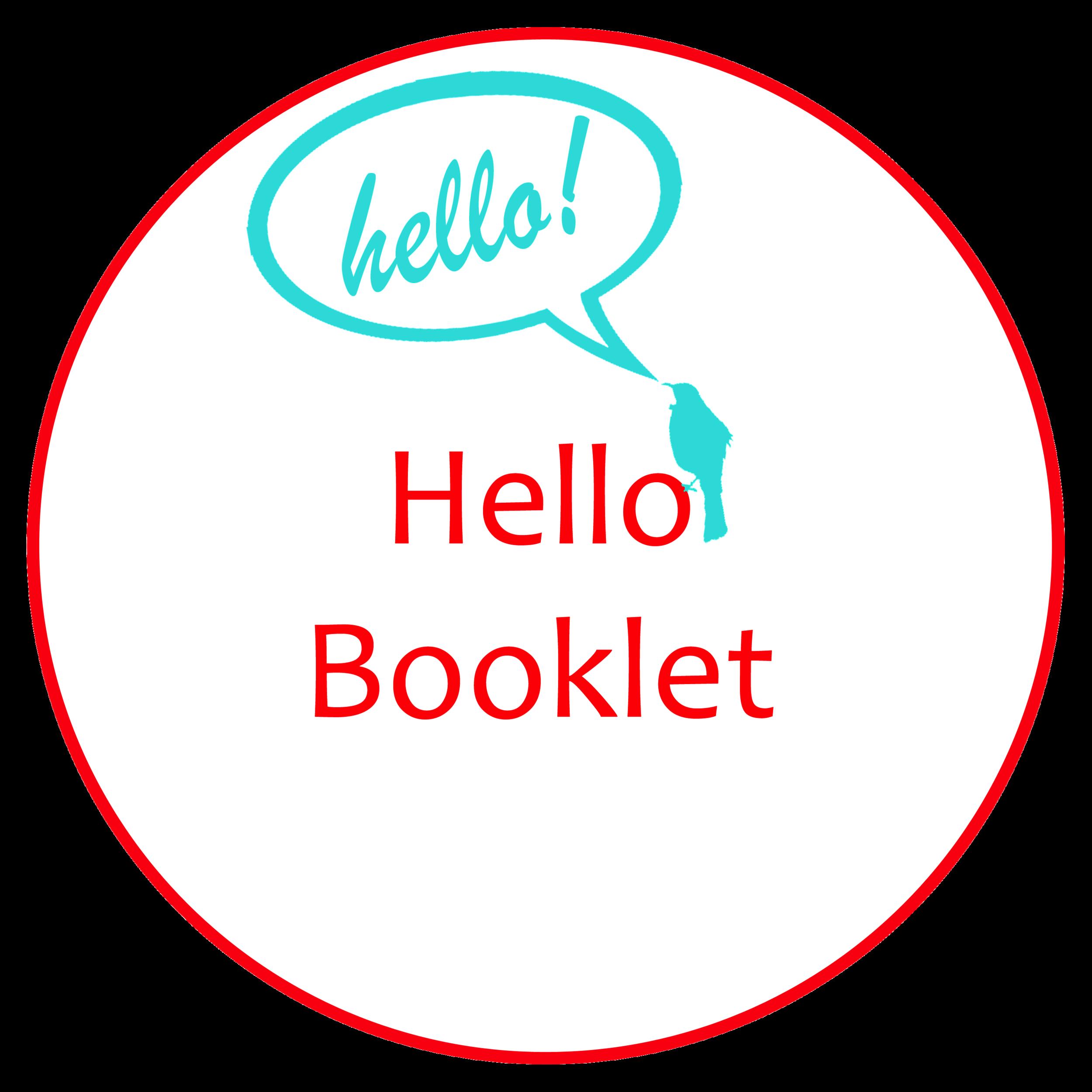 hira school hello booklet button