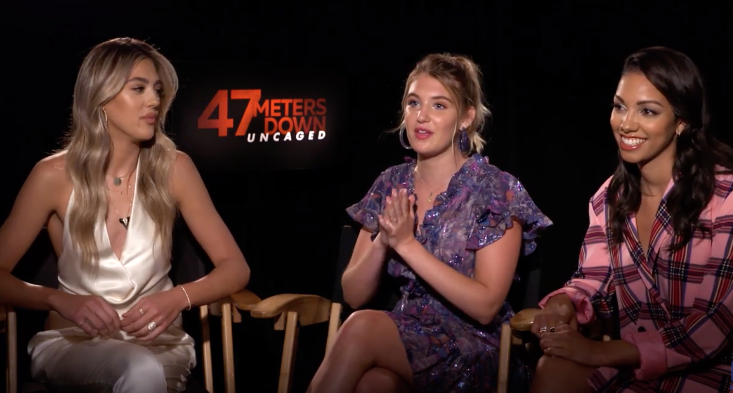 Makeup & Hair for Sophie Nelisse for the 47 Meters Down:Uncaged Press Junket